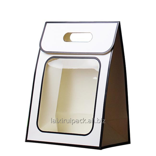white diecut handle bag
