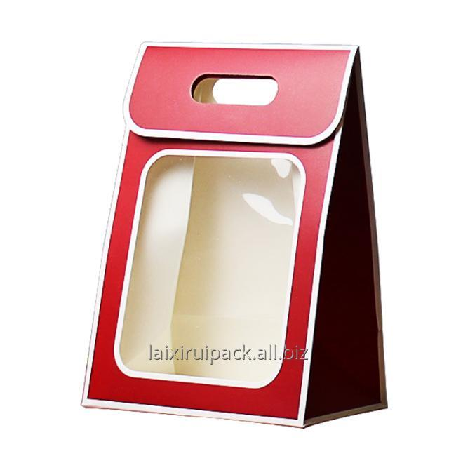 diecut handle bag with window