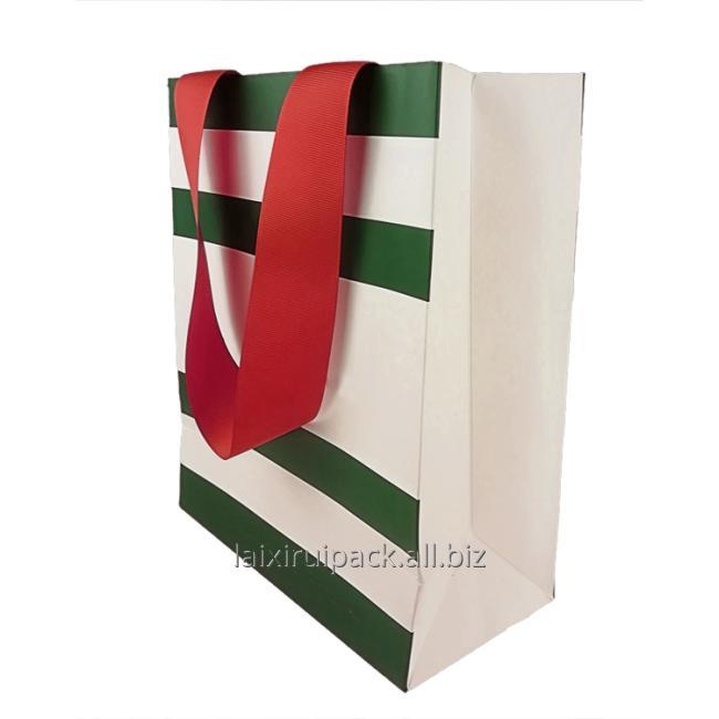 big ribbon handle paper bag