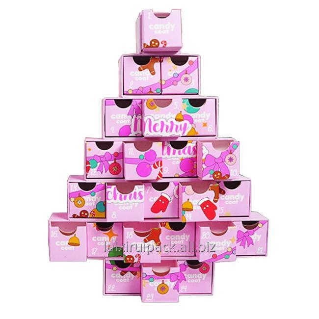 pink chritstmas tree box small