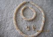 4-5mm potato pearl jewelry set