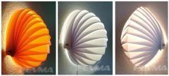 Shell wall lamp