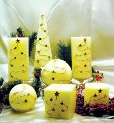 Figured candles