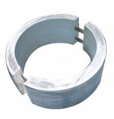 Bracelet type aluminum anodes