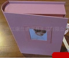 布面盒装高档纸芯圆背礼品相册
