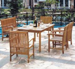户外餐桌椅,实木组合椅,休闲桌椅