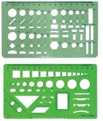 Plastic template ruler for upholstery