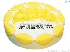 蛋糕-黄玫瑰