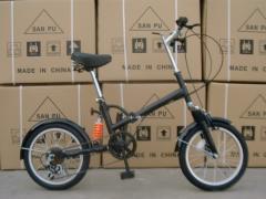 16折叠自行车