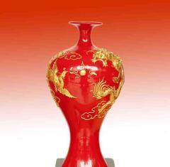 美人瓶红瓷漆线