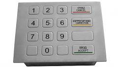 Vandalproof metal keypad X-KN16F