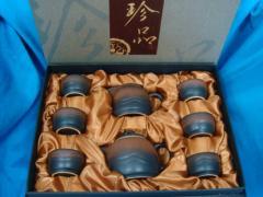 供应新款日式陶瓷亚光茶具 陶瓷礼品功夫茶具