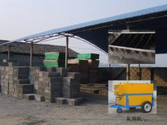 Pneumatic concrete mixers