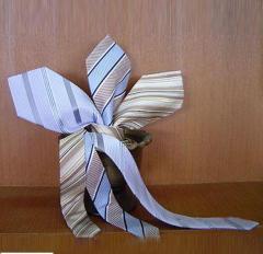 印花真丝领带