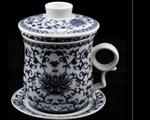 青花瓷茶具4件套
