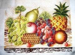 十字绣成品 水果十字绣 水果篮