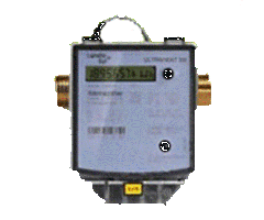 Heat-measuring devices with ultrasonic flow meters