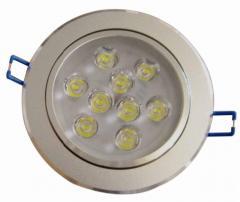 LED天花灯(连体透镜9W白光)