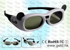 Kids Japanese 3D TV IR Active Shutter 3D Glasses