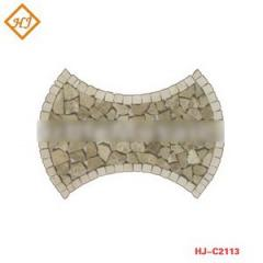 Marble mosaic tiles paving stone