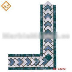 Blue mosaic border line