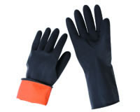 双色工业乳胶手套 FE-302