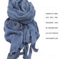 卷边大花围巾