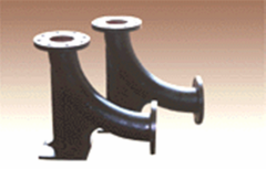 Shaped pipelines parts