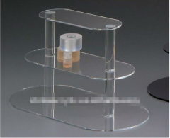Clear acrylic three-tier stand
