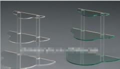 Clear acrylic three-tier display