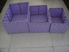 Boxes made of polyethylene, plastic