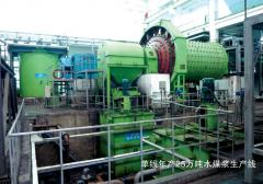 Coal water slurry producing line