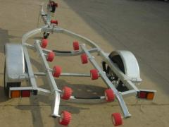 Trailers for transporting of boats, yachts