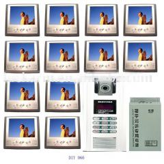 "7""TFT Color video intercom for twelve"