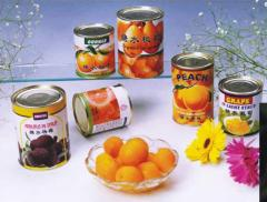 Canned organic fruits