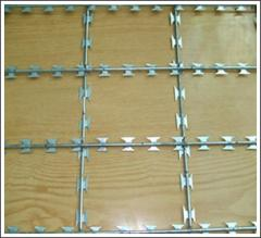 Reinforced barbed band barrier Egoza (concertina