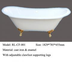 Cast iron bathtub RL-CF-001