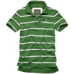 色织彩条翻领T恤衫