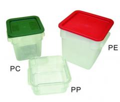 Boxes made of polyethylene, plastic