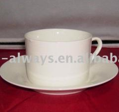 Cups with saucers