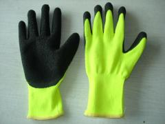 Latex coated working protective gloves