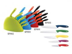 Hot sale colorful 6pcs kitchen knife set