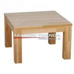 Tables made of natural wood