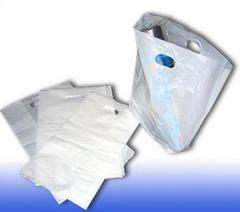 Packages, bags made of polyethylene, plastics,