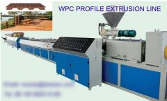 Wpc wood and plastic composite profile extrusion