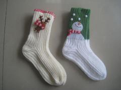 儿童毛线袜