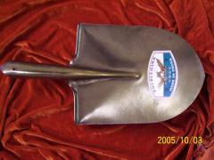 Shovels made of stainless steel