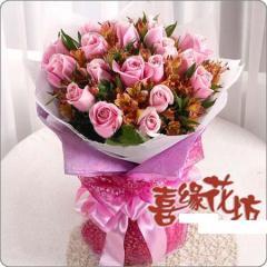 迎接花束 - 幻采之梦 粉玫瑰
