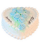 蛋糕 - 蓝玫瑰鲜奶