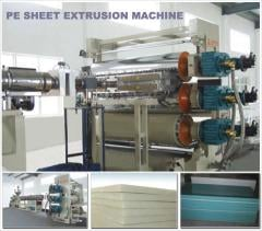 Pe/pp plastic sheet extrusion machine